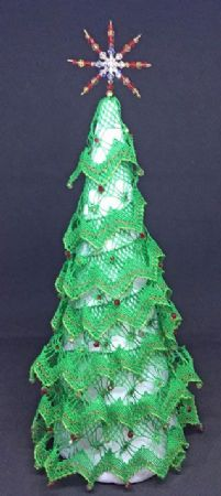 Evergreen Christmas Tree Torchon Bobbin Pattern
